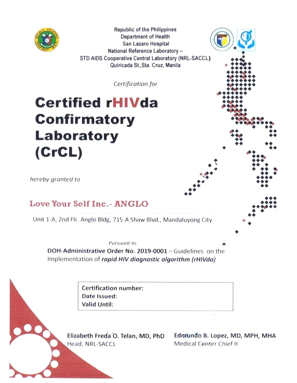 loveyourself-anglo-gets-certified-as-rhivda-confirmatory-laboratory